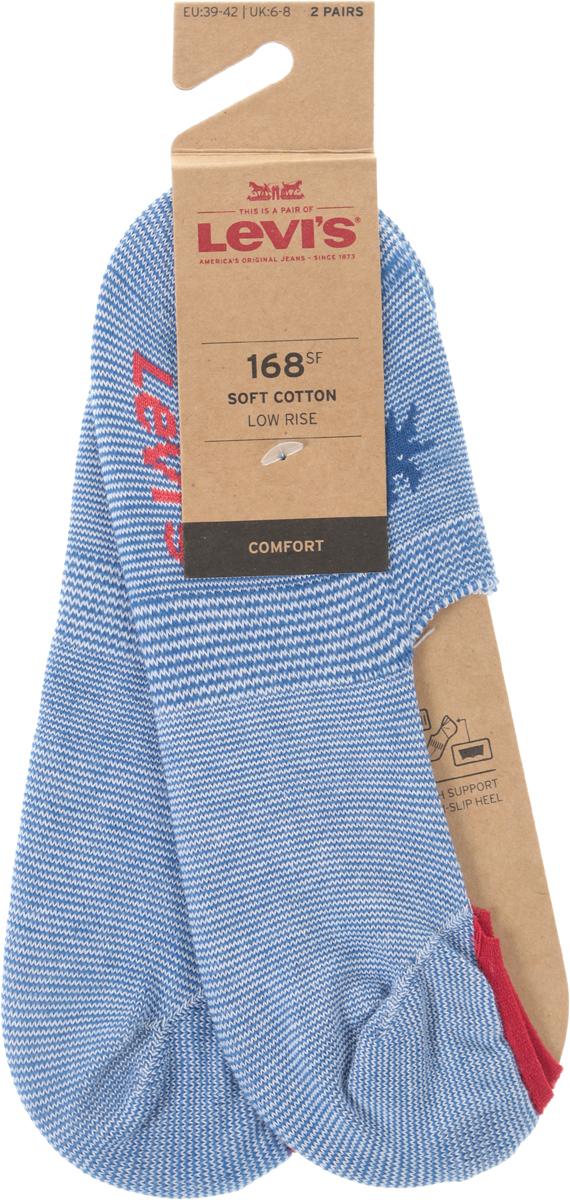 Носки мужские Levi's®, цвет: голубой, 2 пары. 3715900150. Размер 35 jd коллекция светло телесный 12 пар носков 15d две кости размер