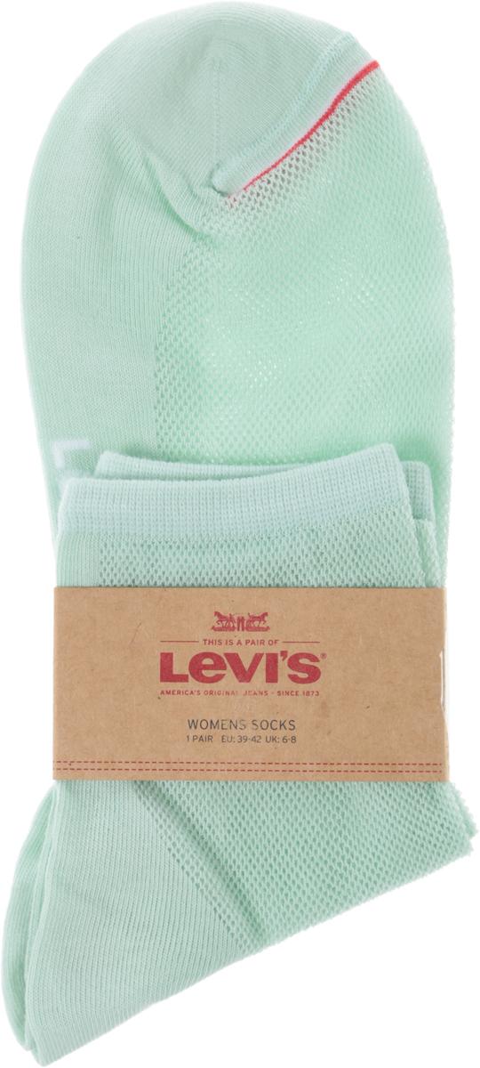 Носки женские Levis®, цвет: зеленый. 3717100080. Размер 353717100080Носки от Levis® выполнены из хлопкового трикотажа с добавлением полиамида. Модель на паголенке дополнена мягкой эластичной резинкой, не сдавливающей ногу.