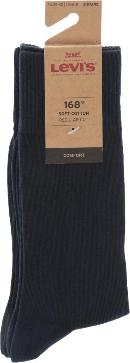 Носки мужские Levi's®, цвет: синий, 2 пары. 7731908850. Размер 39 jd коллекция светло телесный 12 пар носков 15d две кости размер