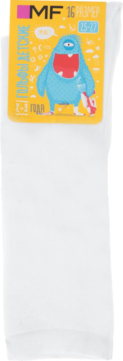 Гольфы детские Mark Formelle, цвет: белый. 410K-584_B3-8410K. Размер 28/30410K-584_B3-8410KГольфы от Mark Formelle выполнены из эластичного хлопкового трикотажа с добавлением полиамида. Модель на паголенке дополнена мягкой эластичной резинкой, не сдавливающей ногу.