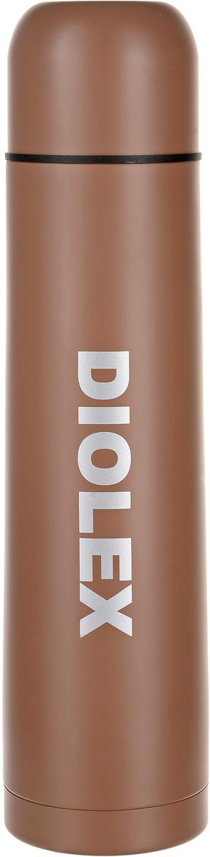 Термос Diolex, с узким горлом, цвет: коричневый, 1 лDX-1000-2_коричневыйТермос Diolex, с узким горлом, цвет: коричневый, 1 л