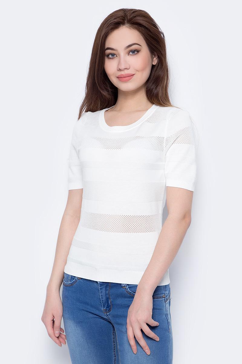 Джемпер женский Sela, цвет: молочный белый. JRs-114/680-8132. Размер XL (50)JRs-114/680-8132