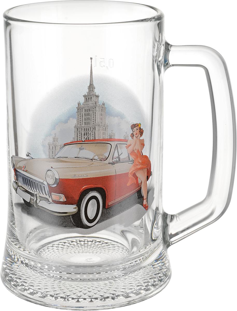 Кружка для пива Декостек Пин-ап. Рисунок 1, 500 мл1599333_рис. 1Кружка для пива Декостек Пин-ап. Рисунок 1, 500 мл