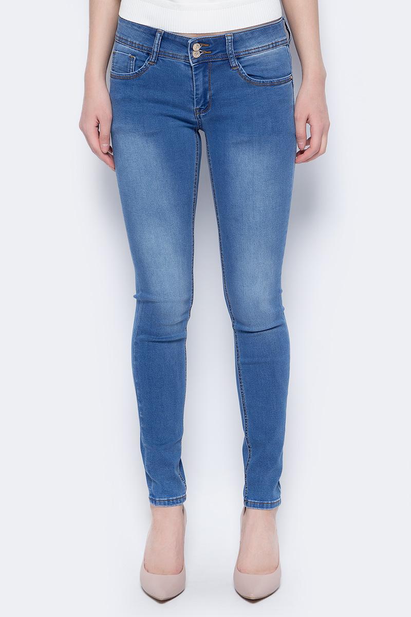 Брюки женские Sela, цвет: синий джинс. PJ-135/647-8283. Размер 29-32 (46-32)PJ-135/647-8283
