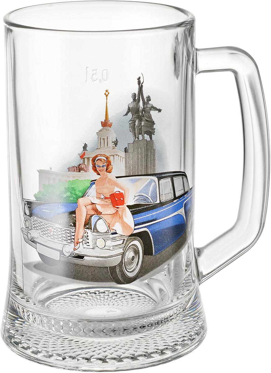 """Кружка для пива Декостек """"Пин-ап. Рисунок 5"""", 500 мл"""
