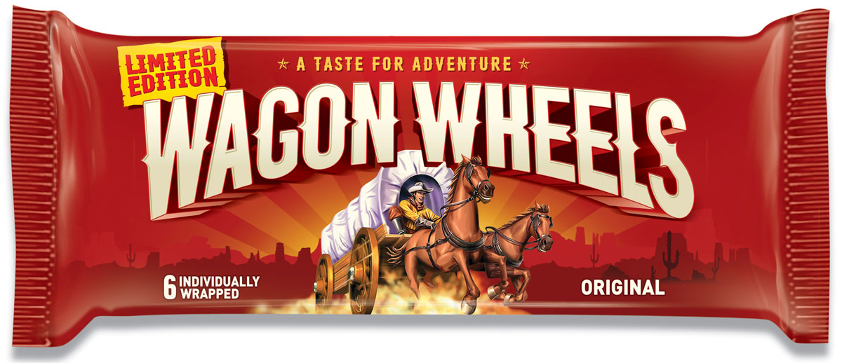 Wagon Wheels Бисквит в шоколаде с прослойкой из суфле, 216 г аква минерале с г