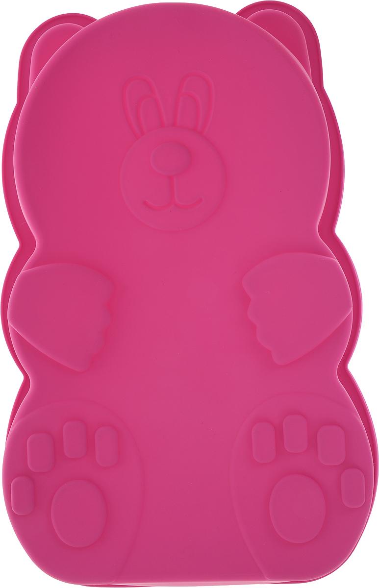 """Форма для выпечки Доляна """"Мишка"""", цвет: розовый, 27 х 15 х 7 см   Как выбрать форму для выпечки – статья на OZON Гид."""