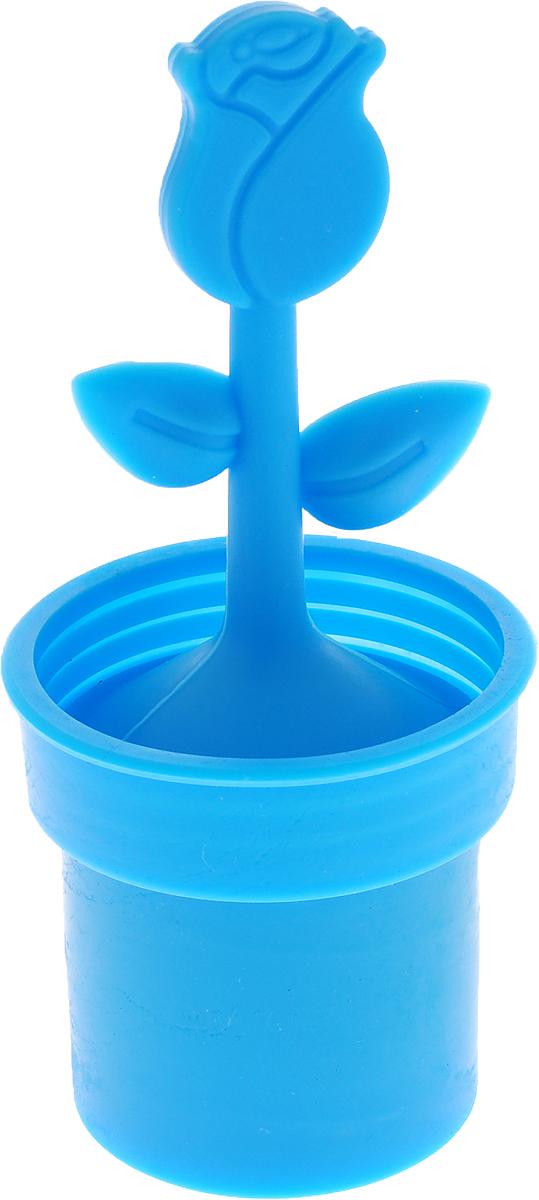 Ситечко для чая Доляна Роза, цвет: синий, 12 х 5 см861120_синий