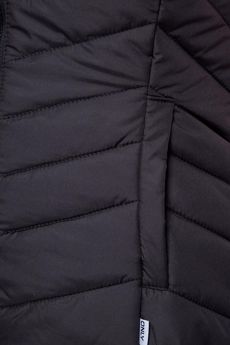 Жилет утепленный женский Only, цвет:  черный.  15145831.  Размер L (46)