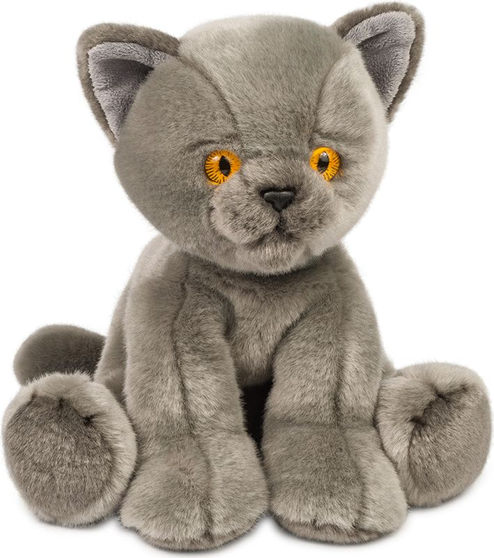 Maxitoys Мягкая игрушка Котик цвет серый 30 см maxitoys игрушка антистресс влюбленный котик
