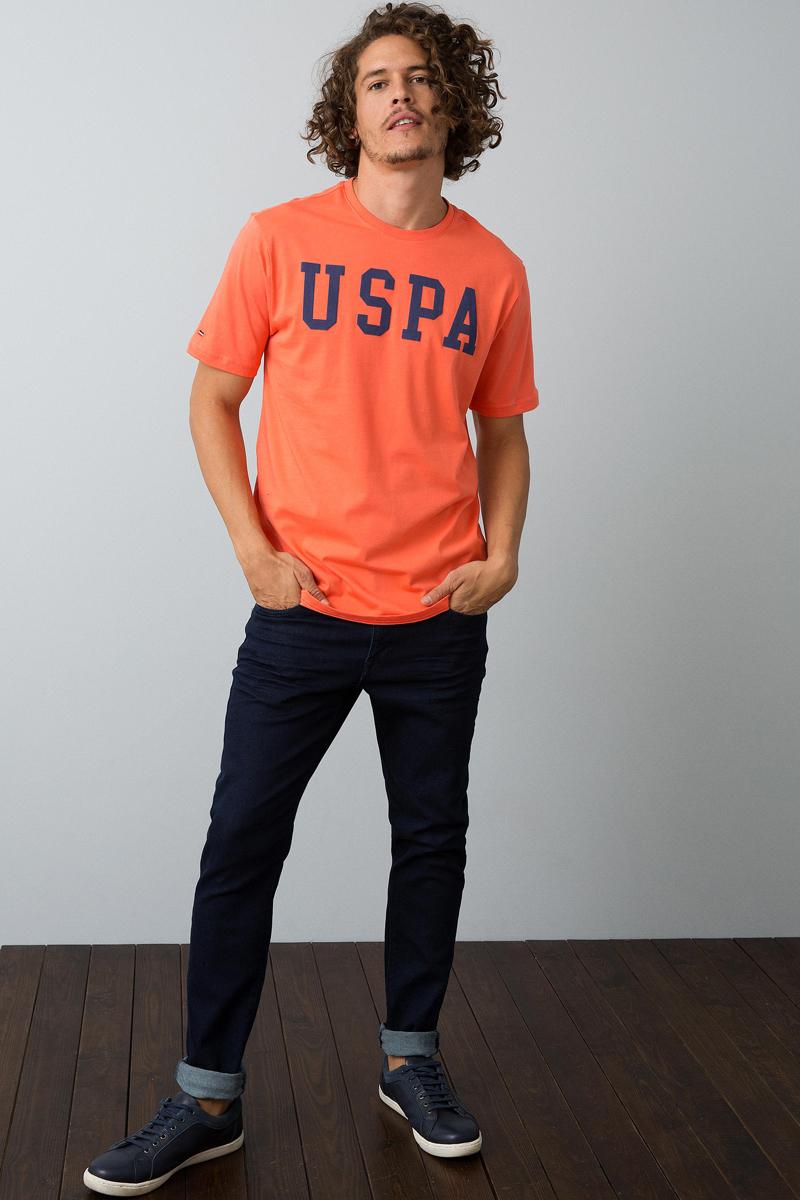 Футболка мужская U.S. Polo Assn., цвет: оранжевый. G081SZ0110GEARTIY8. Размер XL (52) футболка u s polo assn