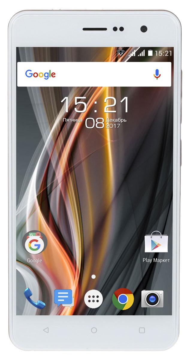 Fly FS529, Champagne11039Смартфон Fly FS529 имеет все, что нужно для ежедневных свершений: четырехъядерный процессор, современная ОС Android 7, 1 ГБ оперативной памяти, емкий аккумулятор объёмом 2150 мАч.Четырёхъядерный процессор с тактовой частотой 1.3 ГГц быстро обрабатывает все операции на базе ОС Android 7. 1 ГБ оперативной памяти обеспечивает стабильную работу смартфона и позволяет использовать его возможности по максимуму.Плавные линии корпуса Fly FS529 и сбалансированные габариты создадут дополнительный комфорт при ежедневном использовании.Качественный 5 IPS дисплей с HD разрешением подарит приятные впечатления во время работы с офисными файлами или в часы досуга, например, при просмотре фильмов или сериалов. За счет слегка изогнутого по краям 2.5D стекла экран будто расширяет границы контента и придает дизайну смартфона эстетически завершенный вид.Запечатлеть главные события в жизни поможет 8 Мпикс основная камера с функцией автофокуса и возможностью применения HDR-эффекта, улучшающая общее качество снимков и позволяет получать отличный результат даже в условиях недостаточного освещения. А для селфи с друзьями и видео-звонков отлично подойдет 2 Мпикс фронтальная камера. Фотографии, наполненные теплыми воспоминаниями, останутся с вами надолго благодаря внутренней памяти объемом 8 ГБ, которую можно увеличить до 32 ГБ с помощью карты памяти microSDHC.Модель поддерживает высокоскоростные стандарты подключения к сети интернет. В платформу встроены модули LTE 4G (Band 3 / 7 / 20) и 3G для быстрого выхода в сеть из любой точки мира, а также Bluetooth 4.0 – для передачи данных между устройствами.Традиционная поддержка 2 SIM-карт позволит подобрать максимально выгодные тарифы и совмещать рабочие и личные контакты.Для продолжительной работы смартфона без дополнительной подзарядки предусмотрен ёмкий аккумулятор 2150 мАч, обеспечивающий до 8 часов работы в режиме разговора и до 190 часов в режиме ожидания.Телефон сертифицирован EAC и имеет русифицированный интерфейс мен