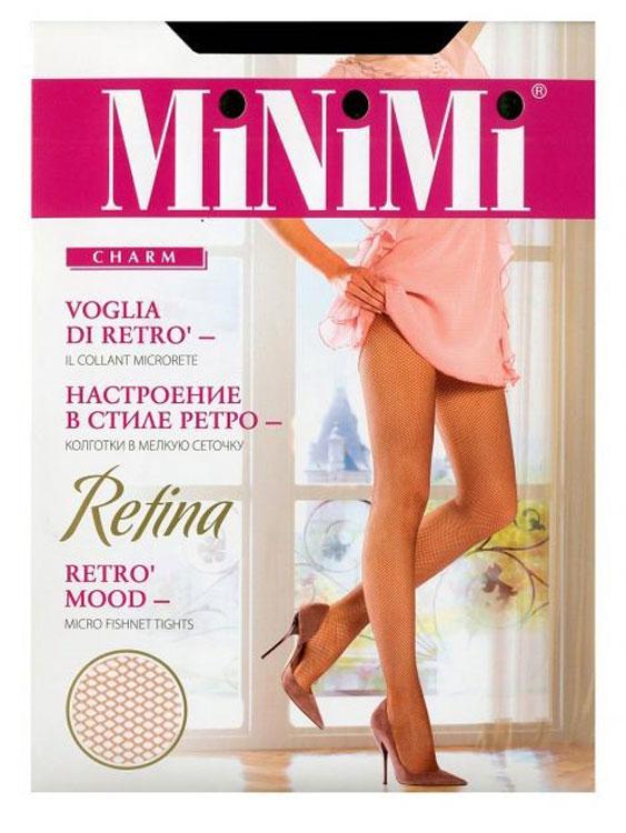 Колготки женские Minimi Retina, цвет: Nero (черный). Размер 2 (S/M)Retina NeroМодные эластичные женские колготки Minimi Retina выполнены в мелкую сеточку с ажурным поясом. Модель изготовлена с использованием бесшовной технологии, с хлопковой гигиенической ластовицей и усиленным мыском. Эластичная резинка на поясе плотно облегает талию, обеспечивая комфорт и удобство.Марка Minimi - это принципиально новый продукт итальянской компании Divage International S.r.l.. Колготки Minimi созданы для утонченных женщин, которые обладают собственным стилем и любят и умеют приковывать к себе взгляды. Их образ идеален и продуман до мелочей. Женщины, выбирающие колготки марки Minimi, ценят комфорт и заботятся о своем здоровье. Разработчики марки Minimi опираются на мировой опыт и предлагают исключительно современные тенденции и великолепное качество по доступной цене, заботясь о постоянном обновлении коллекции. Это делает колготки Minimi верным спутником стильной женщины в стремительном ритме жизни и позволяет ей всегда оставаться модной!Уважаемые клиенты! Обращаем ваше внимание на то, что упаковка может иметь несколько видов дизайна. Поставка осуществляется в зависимости от наличия на складе.