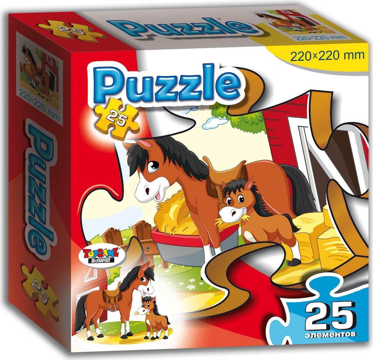 TopGame Пазл для малышей Лошадка и жеребенок пазлы origami пазл дм зайчик и волчонок 25 элементов