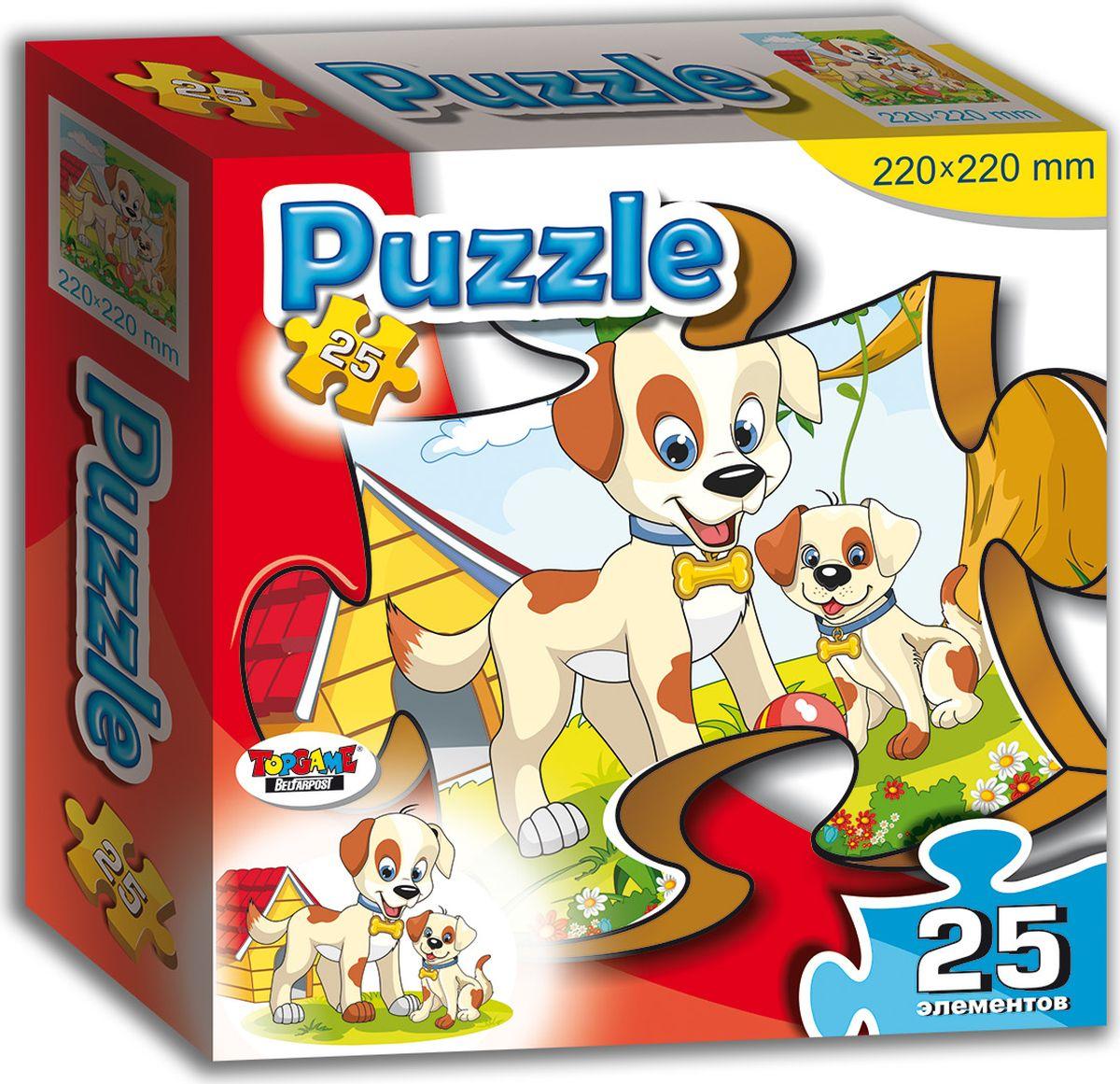 TopGame Пазл для малышей Собачка и щенок пазлы origami пазл дм зайчик и волчонок 25 элементов