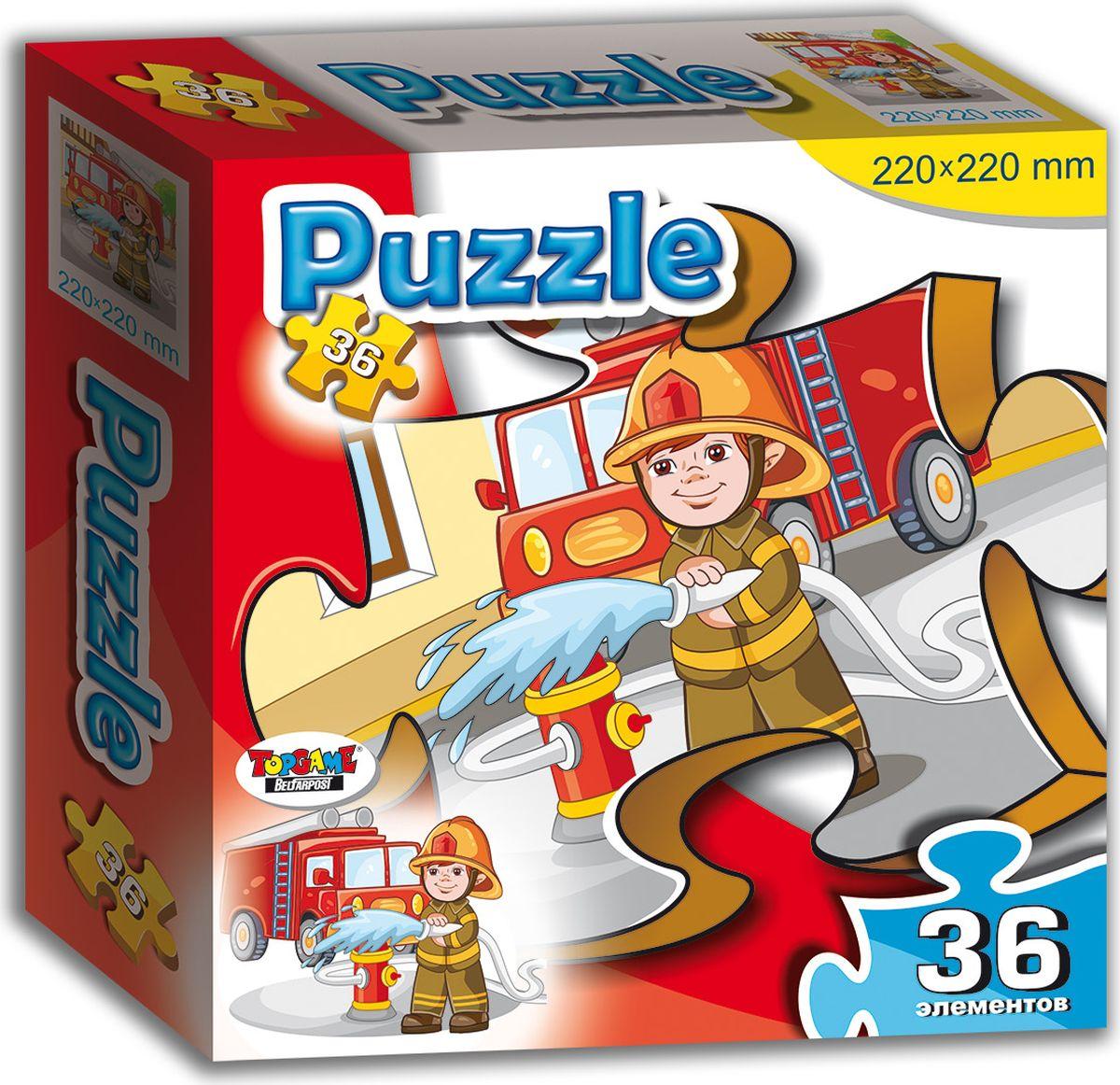 TopGame Пазл для малышей Пожарный флексика пазл для малышей геометрия цвет основы красный