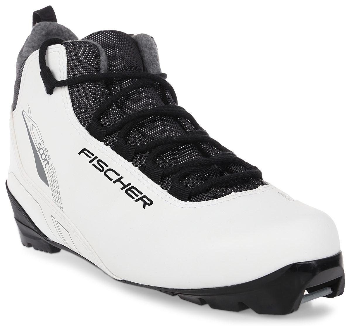 """Fischer """"XC Sport My Style"""" - это отличная модель для лыжных прогулок. Женская анатомическая колодка, подошва Soft и более тонкая стелька обеспечивают комфорт и придают необходимую гибкость подошве. Технологии: Internal Molded Heel  Cap - внутренняя пластиковая вставка анатомической формы в пяточной части. Очень легкая и термоформируемая. Easy Entry Loops - широкое раскрытие ботинка и практичная петля на пятке облегчают надевание/снимание ботинок. Cleansport NXT- специальная пропитка подкладки и стелек ботинок. Система из полезных микробов, которые устраняют неприятный запах. T3 - полиуретановая подошва с хорошей гибкостью, устойчивая к износу при ходьбе. Также используется в детских ботинках. Ladies Fit Concept - для женской целевой группы разработан свой тип колодки, который обеспечивает наилучший комфорт при катании и максимальную передачу энергии."""