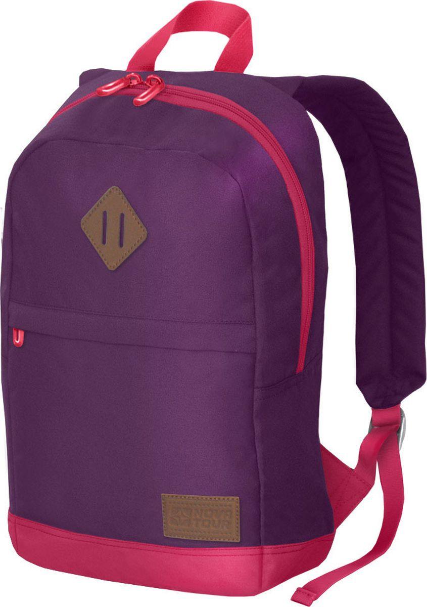 Рюкзак городской Nova Tour Трэйлер 18, цвет: фиолетовый, розовый, 16 л96195-062-00Стильный и компактный рюкзак для каждодневного использования. Без проблем вместит все необходимое, будь то: учебники, тетради, одежду для фитнеса, ноутбук, планшет, сменная обувь. Благодаря прочной ткани рюкзак износостойкий и переживет любые неприятности. Широкий ассортимент цветовых решений позволит подобрать модель для любого!