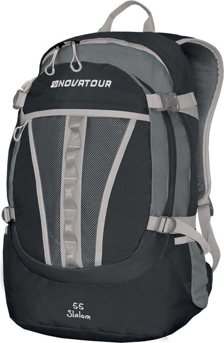 Рюкзак городской Nova Tour Слалом 55 V3, цвет: темно-серый, серый, 55 л96203-978-00Если все, что нужно ежедневно носить с собой, не помещается в обычный рюкзак, то «Слалом 55 V3 » специально для вас. Два вместительных отделения можно уменьшить боковыми стяжками или наоборот, если что-то не поместилось внутри, навесить снаружи на узлы крепления. Для удобства переноски тяжелого груза, на спинке предусмотрена удобная система подушек Air Mesh с полностью отстегивающимся поясным ремнем.