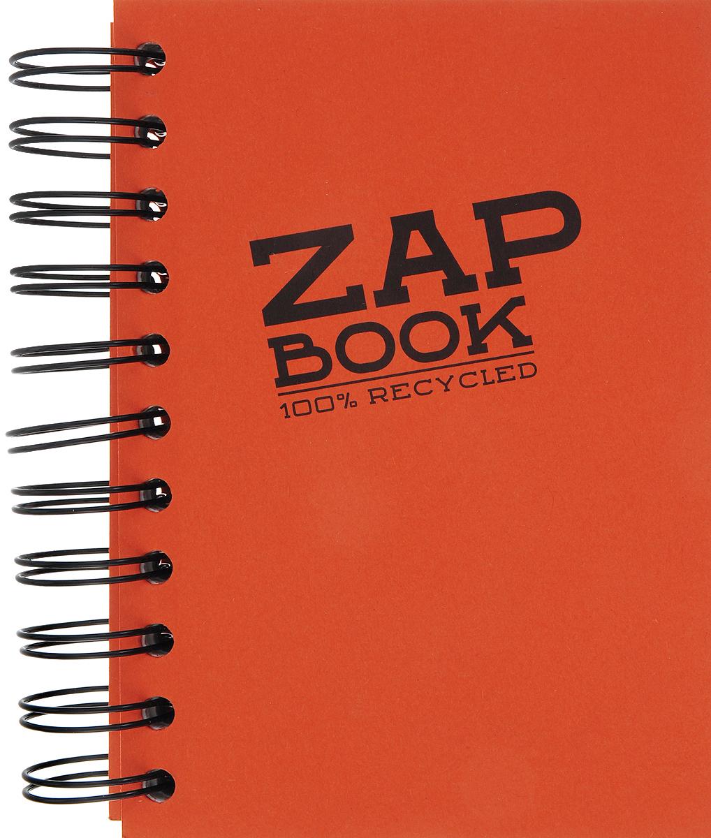 Блокнот Clairefontaine Zap Book, на спирали, цвет: оранжевый, формат A6, 160 листов блокнот clairefontaine rhodia точки формат a6 цвет обложки оранжевый 96 листов