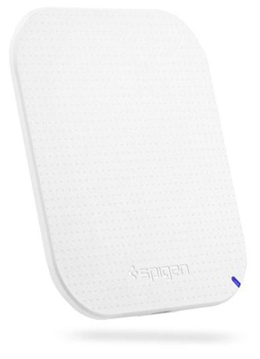 Spigen F302W, White беспроводное зарядное устройство000CH20799Беспроводное зарядное устройство споддержкой стандарта Qi. Совместимо сустройствами, поддерживающими стандарт Qi. Необходимая дистанция между устройствами — 5 мм. Ультратонкая беспроводные зарядка. Антискользящее покрытие напередней стороне для фиксации мобильного телефона.