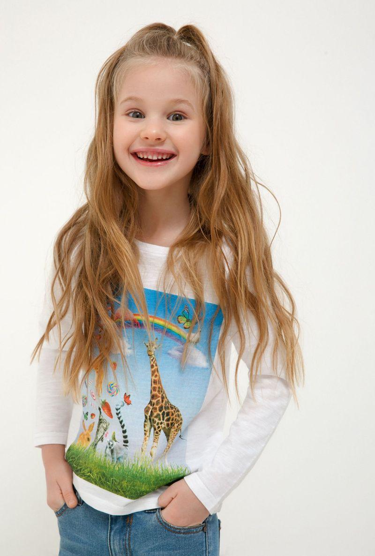 Джемпер для девочки Acoola Kizil, цвет: белый. 20220170054_200. Размер 128 джемперы acoola джемпер для девочек в полоску цвет белый размер 128 20220100149