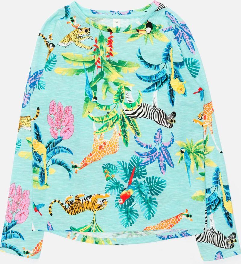 Джемпер для девочки Acoola Kizil, цвет: бирюзовый. 20210170054_9000. Размер 158 джемперы acoola джемпер для девочек в полоску из люрекса цвет ассорти размер 158 20210100174