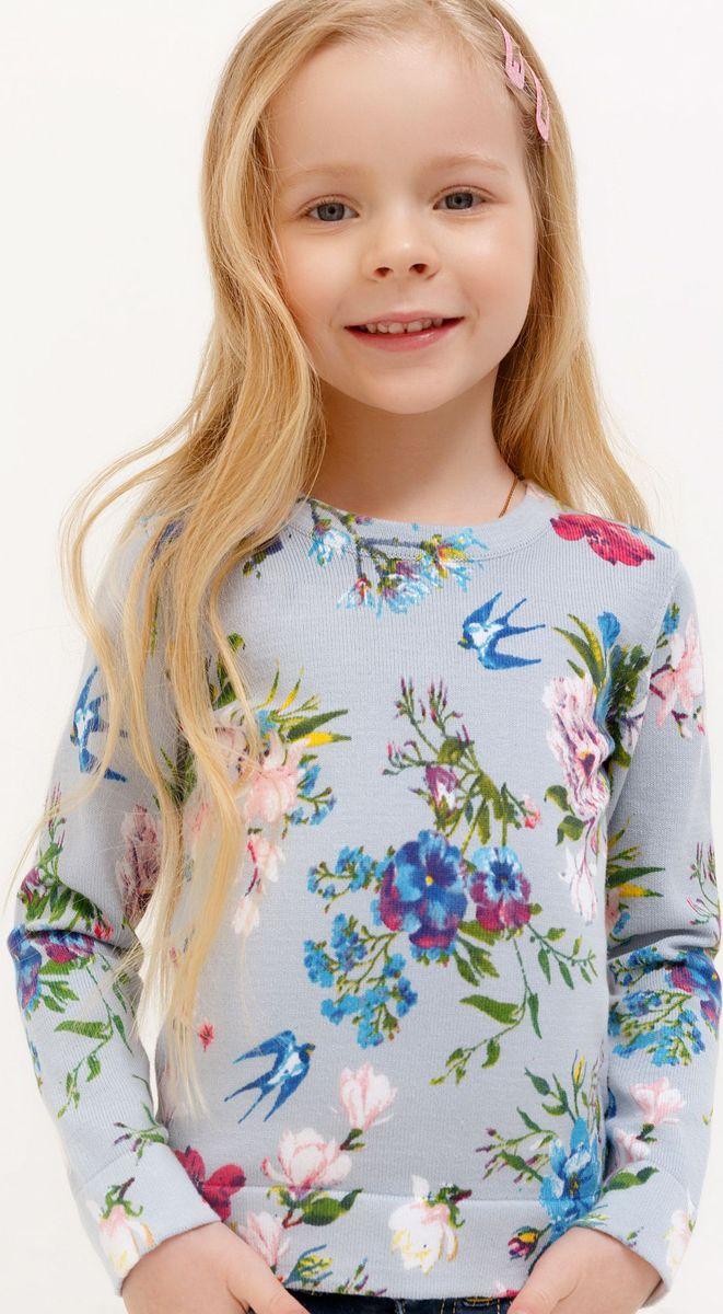 Джемпер для девочки Acoola Sweet, цвет: голубой. 20220310060_400. Размер 128 джемпер для девочки acoola kapuas цвет белый голубой 20210100173 4400 размер 140