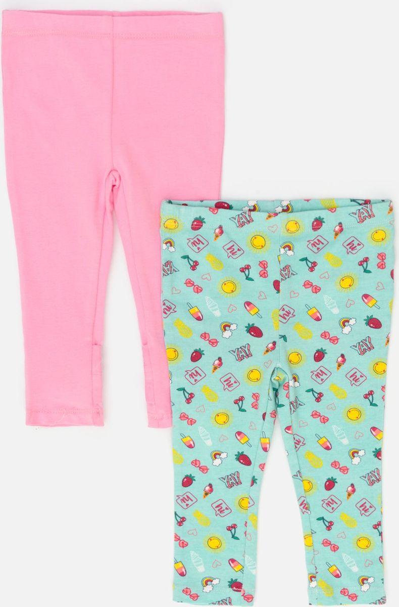 Леггинсы для девочки Maloo by Acoola Matina, цвет: розовый, мятный, 2 шт. 22250160031_8000. Размер 86 леггинсы acoola леггинсы детские для девочек со звездами цвет черный размер 164 20210160129