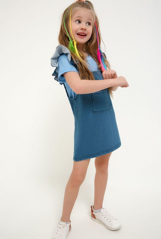 Сарафан для девочки Acoola Shire, цвет: синий. 20220200258_500. Размер 10420220200258_500Сарафан для девочки Acoola выполнен из высококачественного материала. Модель дополнена спереди накладным карманом.