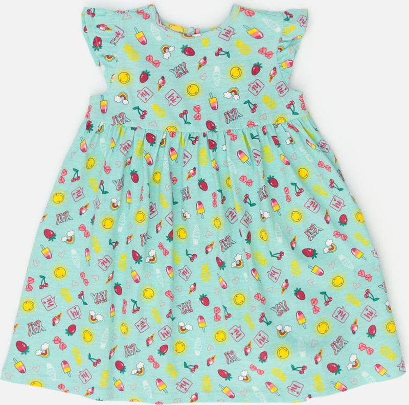 Платье для девочки Maloo by Acoola Margo, цвет: бирюзовый. 22250200021_9300. Размер 86 лонгслив overmoon by acoola overmoon by acoola ov003egsjs36