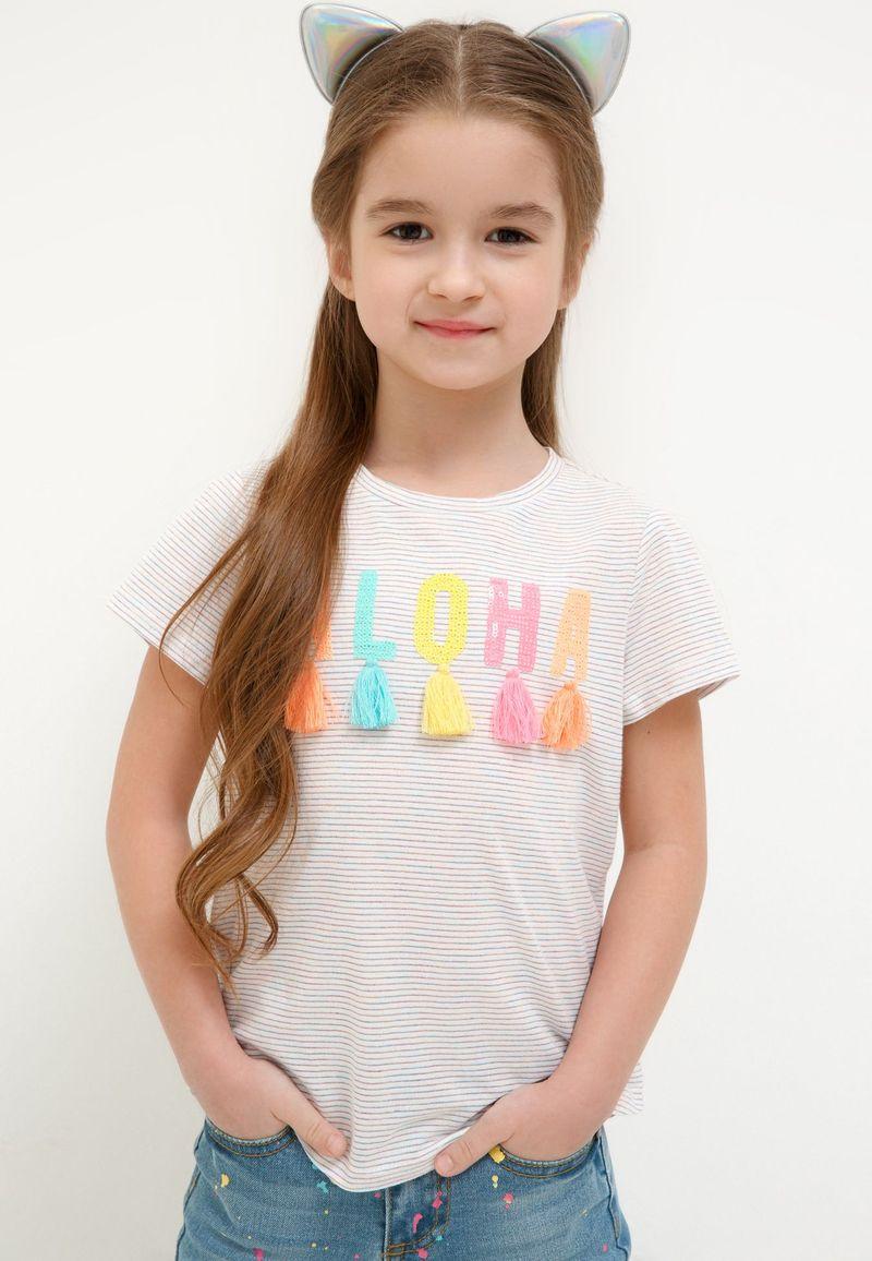 Футболка для девочки Acoola Fras, цвет: белый. 20220110135_4400. Размер 128 футболка для девочки acoola aldan цвет белый 20214220019 200 размер 164