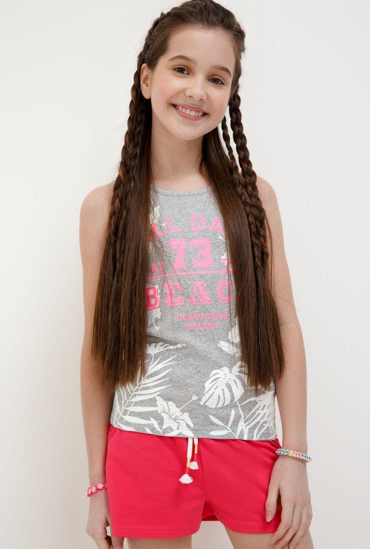 Майка для девочки Acoola Tarim, цвет: серый. 20214220024_1900. Размер 164 acoola для девочки muse серый