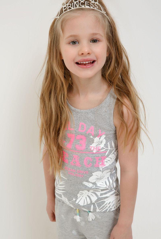 Майка для девочки Acoola Tarim, цвет: серый. 20224220023_1900. Размер 128 acoola для девочки muse серый