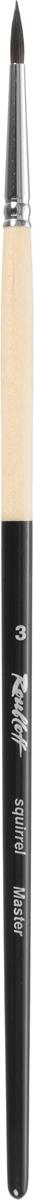 Roubloff Кисть 341M белка круглая № 3ЖБ1-03,0МБКисть круглая из хвостового волоса белки, обойма медная, хромированная, ручка запатентованная по окрасу. Номера 0-3 используются для создания тонких линий и мелких деталей, 4-6 для нанесения фона и больших деталей. Данная серия кистей разработана для икон