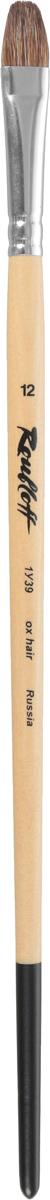 Roubloff Кисть 1У39 овальная № 12 длинная ручкаЖУ3-12,09БОвальная кисть из ушного коровьего волоса прекрасно сохраняет свою форму в процессе работы и применима для использования с акрилом, темперой и гуашью. Алюминиевая обойма надежно скрепляет упругий ворс с длинной ручкой, пропитанной лаком. Форма пучка идеально подходит для написания округлых объектов; позволяет переходить от толстых линий к тонким с помощью нажима и поворота руки