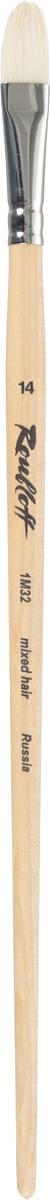 Roubloff Кисть 1M32 синтетика и щетина овальная № 14 длинная ручка