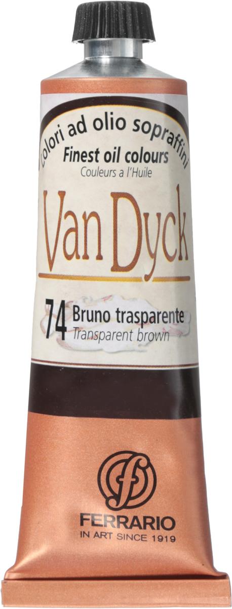 Ferrario Краска масляная Van Dyck цвет №74 коричневый проз 60 мл