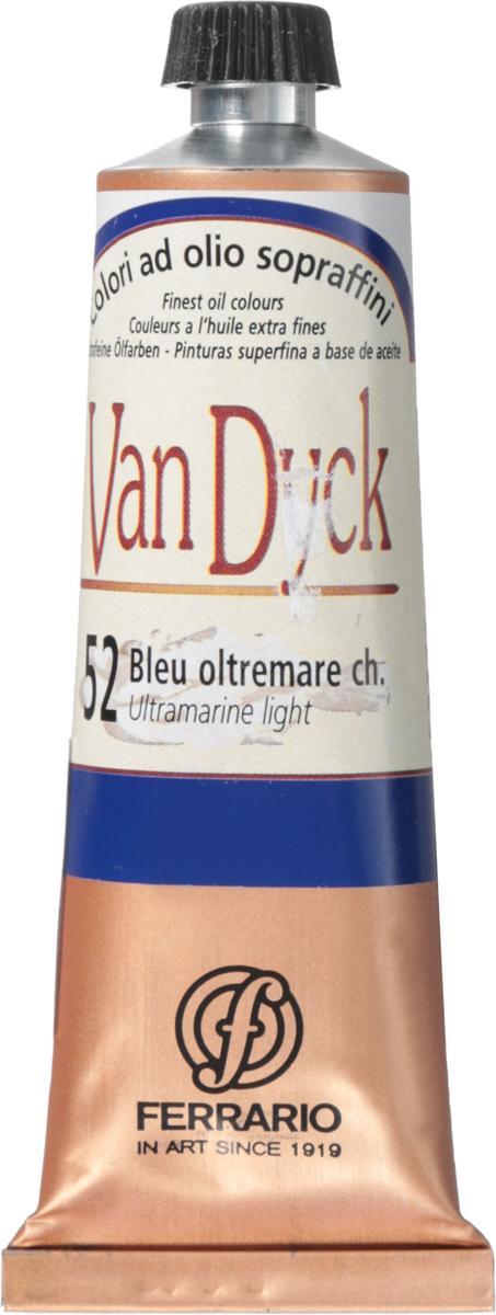 Ferrario Краска масляная Van Dyck цвет №52 ультрамарин светлый 60 млAV0017CO52Масляные краски серии VAN DYCK итальянской компании Ferrario изготавливаются из натуральных мелко тертых пигментов с добавлением качественного связующего материала. Благодаря этому масляные краски VAN DYCK обладают превосходной светостойкостью, чистотой цветов и оттенков. Краски можно разбавлять льняным маслом, терпентином или нефтяными разбавителями. Все цвета хорошо смешиваются между собой. В серии масляных красок VAN DYCK представлено 87 различных оттенков, а также 6 металлических оттенков.Дополнительные характеристики: – Изготавливаются из натуральных мелко тертых пигментов с добавлением качественного связующего материала; – Краски хорошо смешиваются между собой;