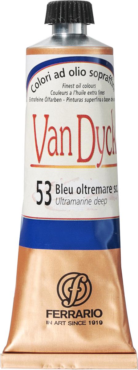 Ferrario Краска масляная Van Dyck цвет №53 ультрамарин темный 60 мл -  Краски