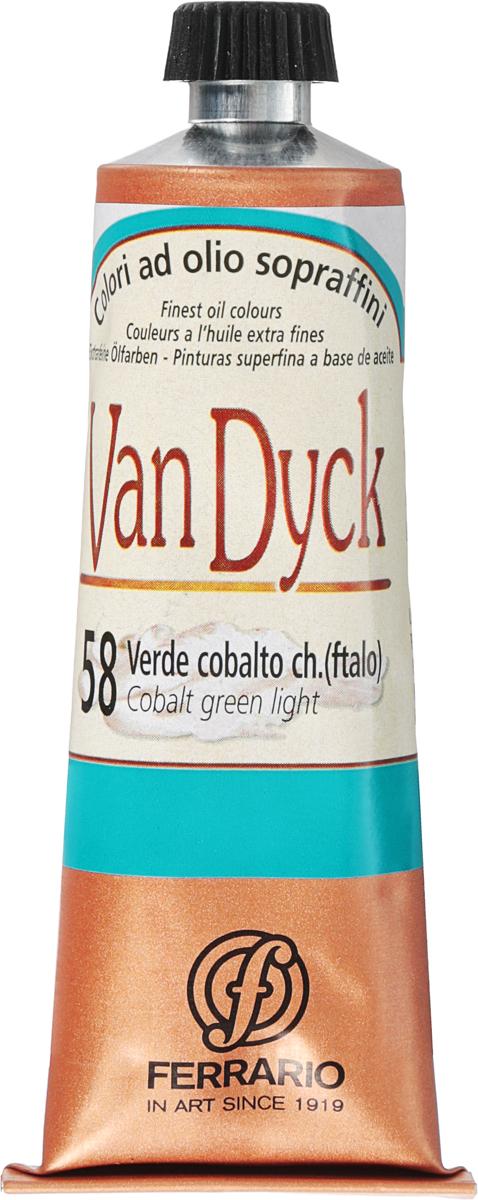 Ferrario Краска масляная Van Dyck цвет №58 кобальт зеленый светлый 60 млAV0017CO58Масляные краски серии VAN DYCK итальянской компании Ferrario изготавливаются из натуральных мелко тертых пигментов с добавлением качественного связующего материала. Благодаря этому масляные краски VAN DYCK обладают превосходной светостойкостью, чистотой цветов и оттенков. Краски можно разбавлять льняным маслом, терпентином или нефтяными разбавителями. Все цвета хорошо смешиваются между собой. В серии масляных красок VAN DYCK представлено 87 различных оттенков, а также 6 металлических оттенков.Дополнительные характеристики: – Изготавливаются из натуральных мелко тертых пигментов с добавлением качественного связующего материала; – Краски хорошо смешиваются между собой;
