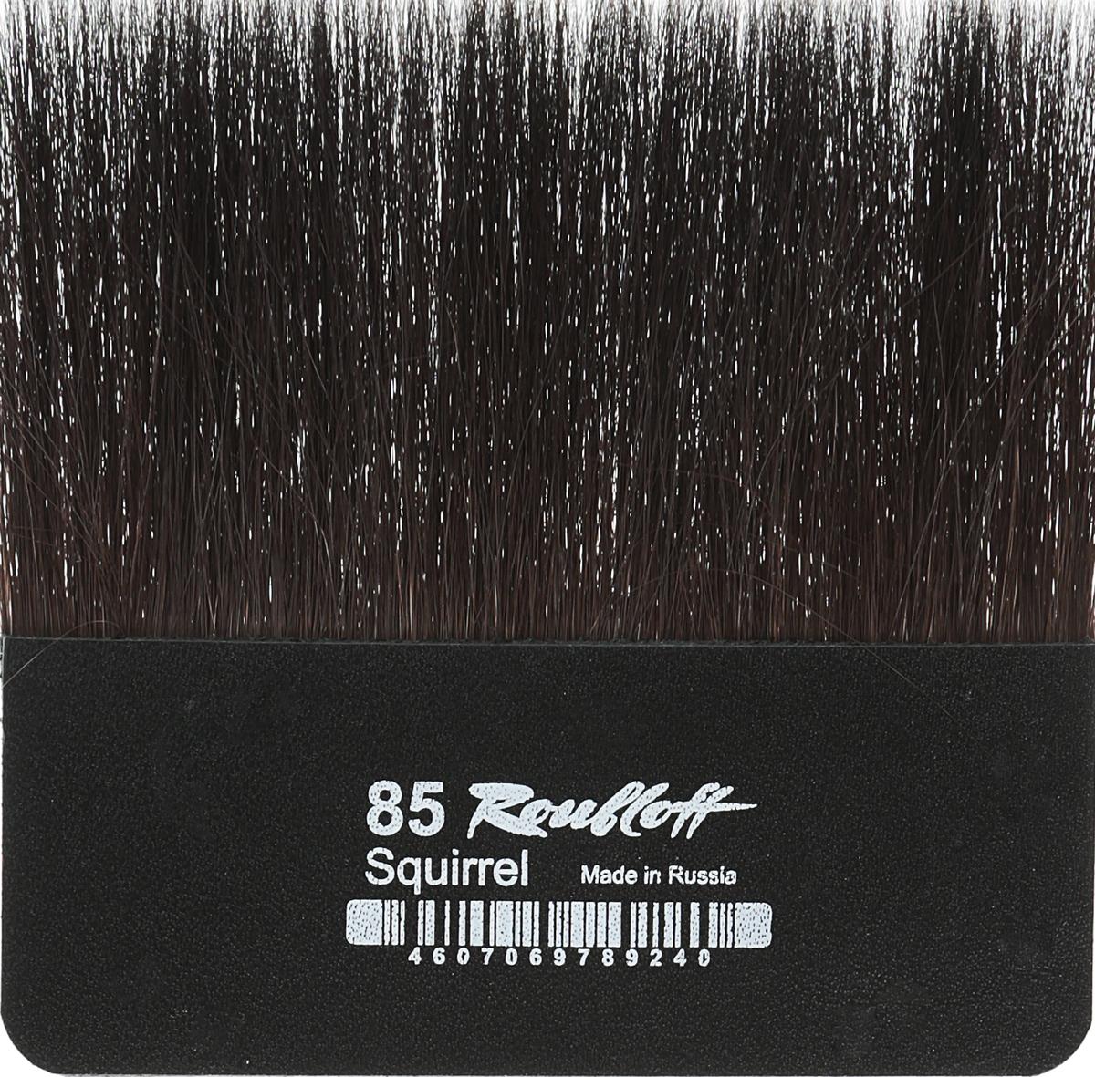 Roubloff Кисть для работы с золотом белка № 85ЖБЛ-85,ШЛампезель - плоская кисть без ручки для работы с сусальным золотом и/или поталью.
