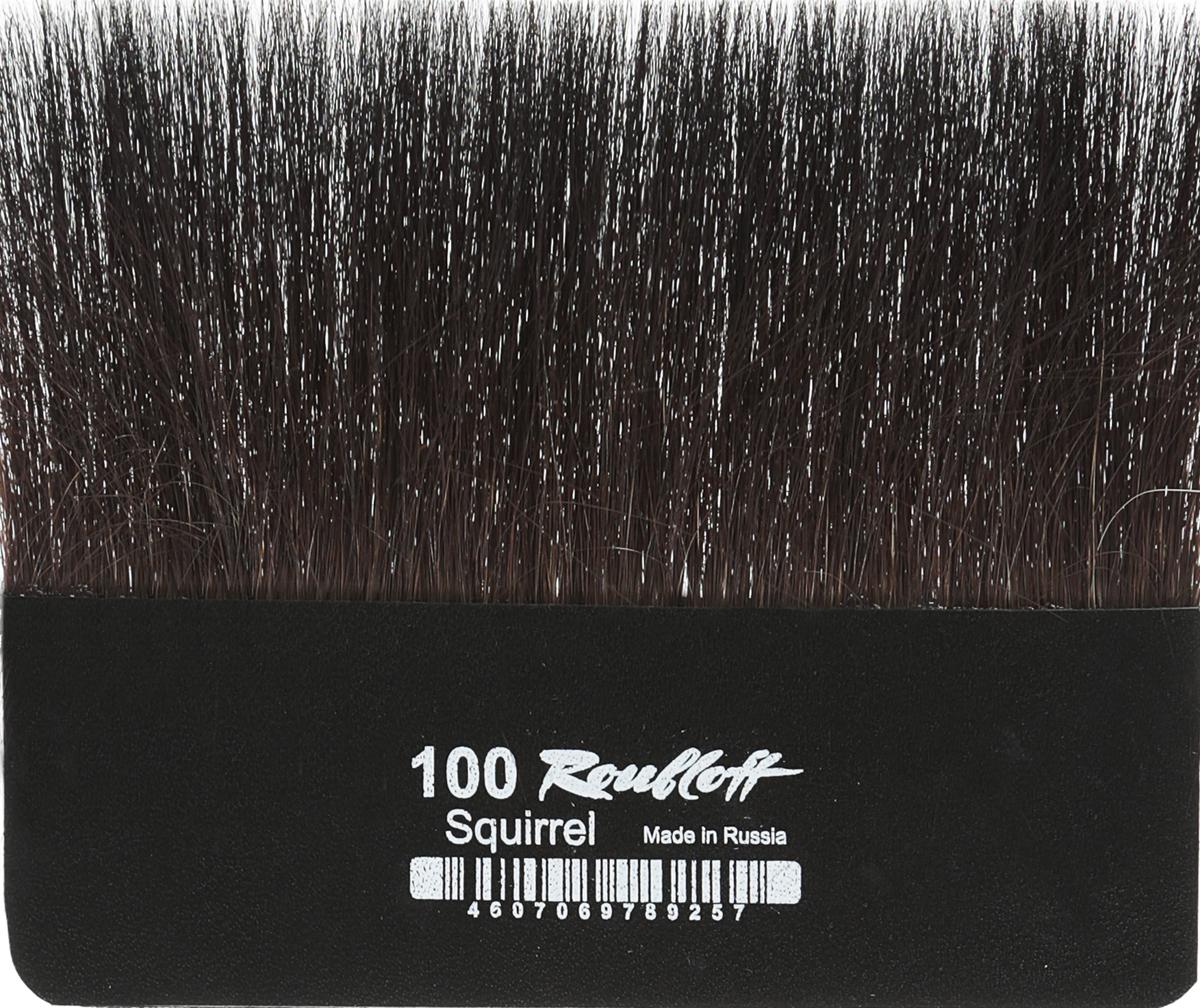 Roubloff Кисть для работы с золотом белка № 100ЖБЛ-100ШЛампезель - плоская кисть без ручки для работы с сусальным золотом и/или поталью.