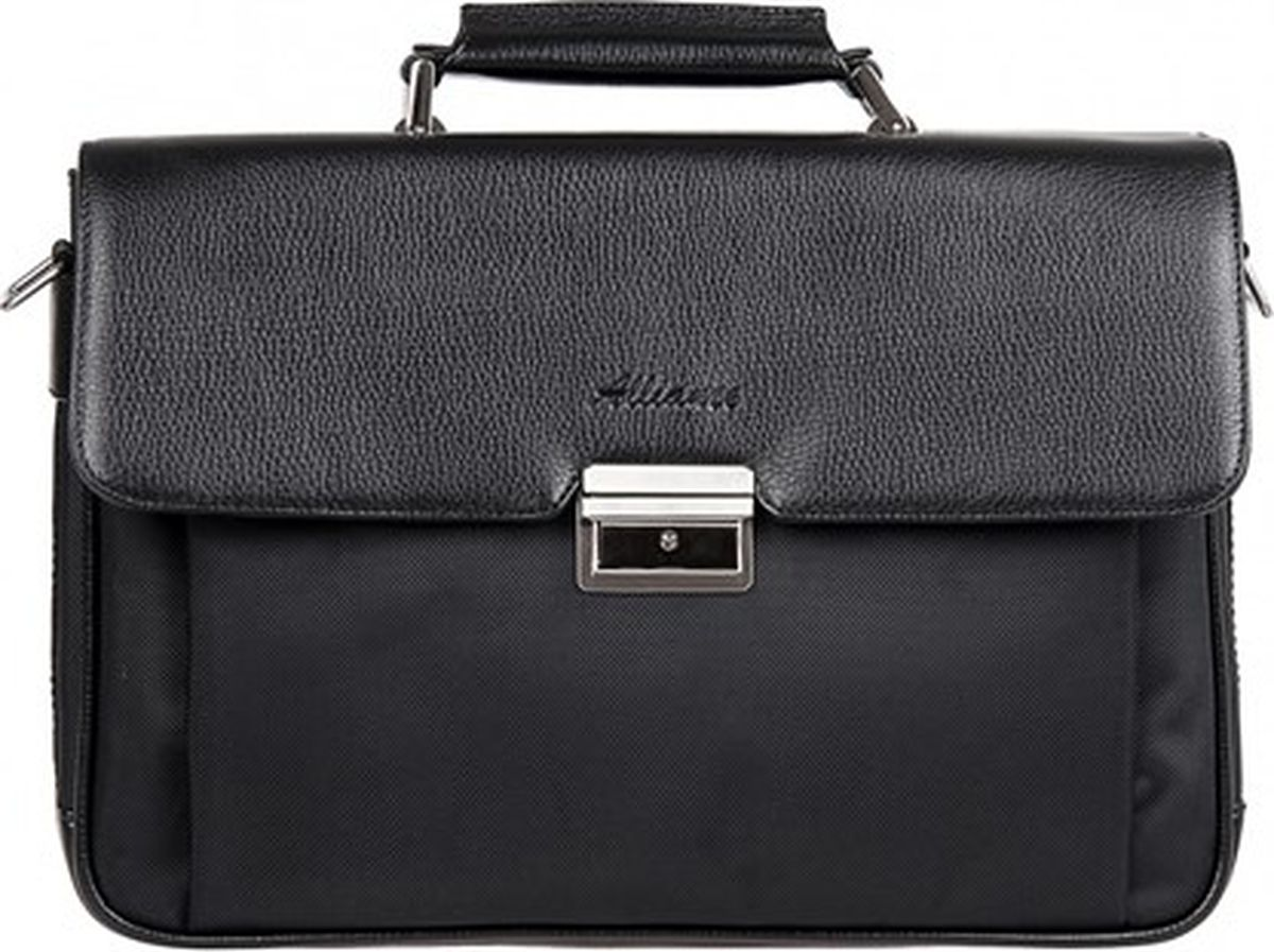 Портфель мужской Alliance, цвет: черный. 2-407/1т