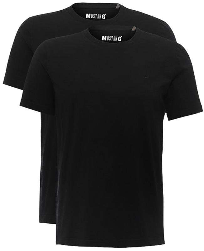 Футболка мужская Mustang 2-Pack Tee, цвет: черный, 2 шт. 8404-1603-440 N. Размер M (48)8404-1603-440 N