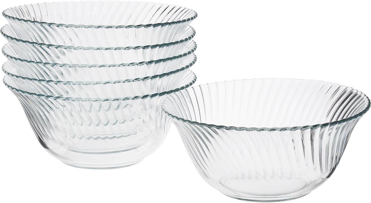 Набор салатников Isfahan Diamond, диаметр 17 см, 6 шт400743Салатник изготовлен из стекла, прекрасно подойдет для подачи различных блюд: закусок, салатов или фруктов.Такой салатник украсит ваш праздничный или обеденный стол, а оригинальный дизайн придется по вкусу и ценителям классики, и тем, кто предпочитает утонченность и изысканность.