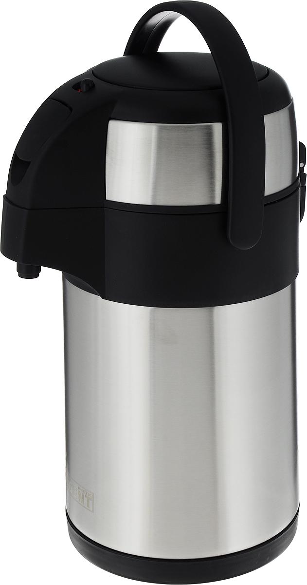 Термос Regent Inox, с пневмонасосом, цвет: черный, 2 л. 93-TE-G-1-2000