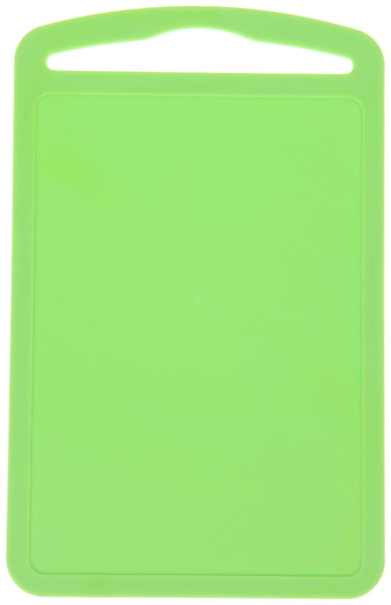 Доска разделочная ТД Ангора Комфорт, цвет: зеленый, 28 х 17,5 х 0,5 см доска разделочная 28 2х23х1 6 см красная пластмассовая gipfel гипфел 36 1286171