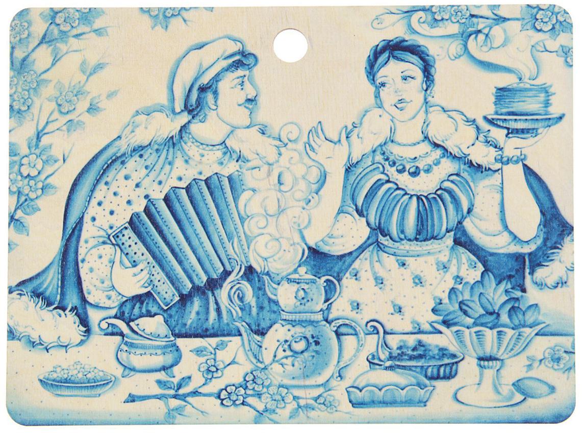 Доска разделочная ТД ДМ Гжель, горизонтальная , цвет: голубой, 25 х 18,5 х 0,4 см1770808От качества посуды зависит не только вкус еды, но и здоровье человека. Доска разделочная— товар, соответствующий российским стандартам качества. Любой хозяйке будет приятно держать его в руках. С такой посудой и кухонной утварью приготовление еды и сервировка стола превратятся в настоящий праздник.