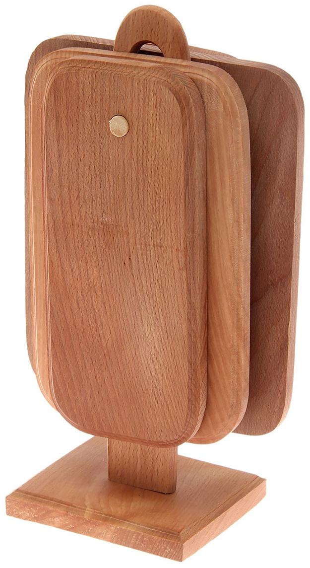 Доска разделочная Доброе дерево Премиум, с подставкой, цвет: коричневый, 14 х 22 х 38 см, 4 шт1773921От качества посуды зависит не только вкус еды, но и здоровье человека. Доска— товар, соответствующий российским стандартам качества. Любой хозяйке будет приятно держать его в руках. С такой посудой и кухонной утварью приготовление еды и сервировка стола превратятся в настоящий праздник.